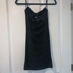 Back form fitting dress